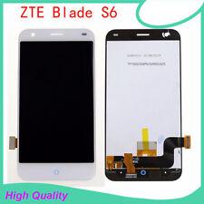 """Blanc ZTE Blade S6 5.0"""" Affichage LCD écran Tactile Numériseur Unité Assemblée-UK -"""