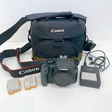 Canon EOS 550D 18.0 MP Digital SLR Camera - Black Body Only 3 x Batteries + Bag