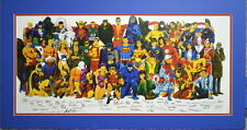 HISTORY Of The DC UNIVERSE PRINT PROFESSIONALLY MATTED over 50 artists work