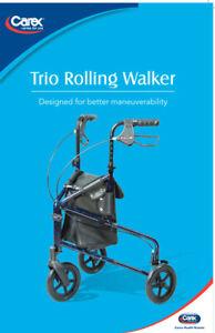 Carex Trio Rolling Walker