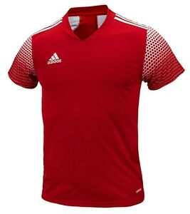 Adidas Men REGISTA 20 Shirts S/S Soccer Jersey Red Tee Top Casual Shirt FI4551