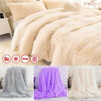 Super Soft Bed Sofa Blanket Long Shaggy Cozy Warm Fluffy Faux Fur Sheet Blanket