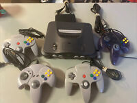 VTG Nintendo 64 N64 console with 1 2 3 or 4 Controllers  + Cables Bundle Lot