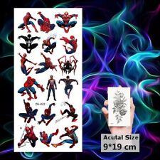 New Spiderman Tattoo Sheet X 1