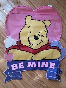 Winnie The Pooh Garden Outdoor flag Valentine's Day Heart Double Sided Nylon