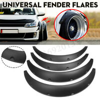 4x Universal Car Truck Tires Fender Flares Over Wide Body Wheel Arches Flexible