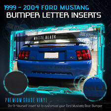For 1999-2004 Ford Mustang Rear Bumper Insert Vinyl Decal Letters - Flat Matte