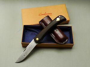 Friedrich Herder/ Solingen Folder Knife Carbon Steel Blade/ Bog Oak