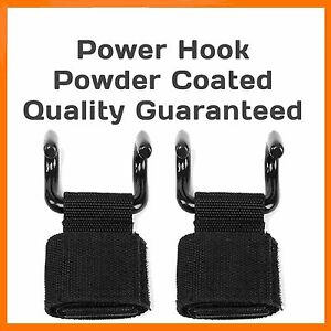 POWER WEIGHT LIFTING BAR HOOK STRAPS SUPPORTS GYM TRAINING WRIST BRACE PULL DOWN