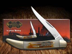 Steel Warrior Toothpick Knife Second Cut Bone Stainless Pocket Knives SW-109SC