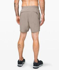 "LULULEMON Pace Breaker Linerless Athletic Shorts 7"" in Carbon Dust (Beige)"