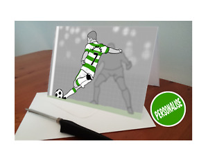 Personalised Celtic FC inspired Birthday Card - Any Name & Number