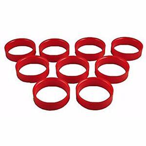 Bar Billiard Rings - Set of nine new Red Peradon rings