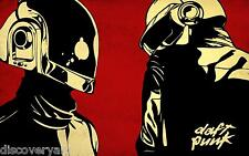 Daft Punk Stretched Canvas Wall Art Album Cover Poster Print Electronic Music