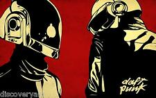 Daft Punk Multi Size Canvas Wall Art Album Cover Poster Print Electronic Music