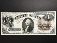 Superb 1880 $1 United States Note Very Rare Large Brown Seal Blue Serials Fr 32