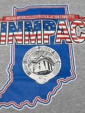Indiana Motorcyclists Political Acttion Committee T shirt  XL INMPAC