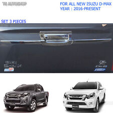 Intake Isuzu Holden D-Max Dmax Chrome Rear Tailgate Bowl Accent Cover 2016 2017