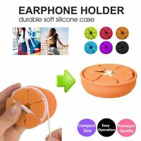 Earphone Earbud Silicone Winder Case Cable Cord Wrap Organizer Holder Storage