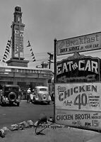 Vintage McDonnell's Drive-in PHOTO bbq Joint Restaurant Great Depression 1935