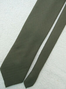 GREEN GREY 3.75 inch PURE NEW WOOL necktie TIE from MARKS & SPENCER