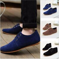 Men's Fashion Flats Moccasin Boat Loafer Casual Driving Suede Slip On Shoes