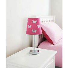 Hot Pink Butterfly Cut Out Kids Table Lamp Home Decor Bedside Lights Lamps New