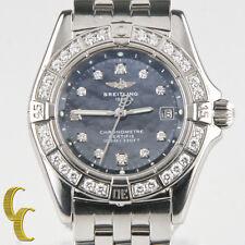 Breitling Callisto Stainless Steel Quartz Watch w/ MoP Dial & Dia Bezel A72345