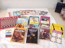 Lot 12 SCHOLASTIC TROLL NEWBERY AWARD BOOKS - MAGIC EYE MANIAC MAGEE + Stickers