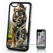 ( For iPhone 4 / 4S ) Back Case Cover P30120 Tiger Machine