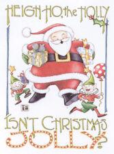 Heigh Ho Holly Santa Claus-Handcrafted Christmas Magnet-W/Mary Engelbreit art