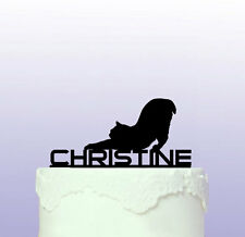 Stretching Cat Personalised Cake Topper