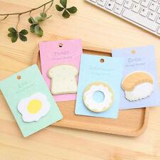 Creative Breakfast Foods Sticker Bookmark Post-It Pads Adhesive Notebook Tabs