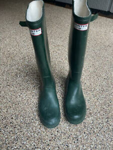 Hunter Men's Original Tall Rain Green Boots Mens 10