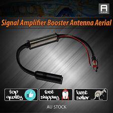 Hidden Inline Antenna Mast Aerial Car Roof Radio FM/AM Signal Booster Amplifier