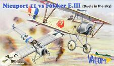 Valom 1/144 modèle kit 14420 nieuport 11 vs fokker e. iii (double set 4 kits)