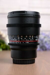 Rokinon85mm T1.5 AS IF UMC II Cine Manual Lens for Micro Four Thirds Mount