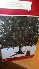 HOLIDAY LIVING ROTATING ARTIFICIAL CHRISTMAS TREE STAND ROTATES 360 DEGREES new