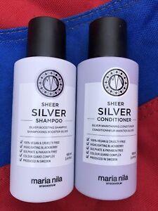 Maria Mila Sheer Silver Shampoo & Conditioner Travel size 100ml Each Brand New