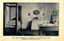 Studentenzimmer ( Innenarchitektur ) Historische Aufnahme von 1918