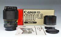 CANON FD 100/4 Macro con Extension Tube FD 50