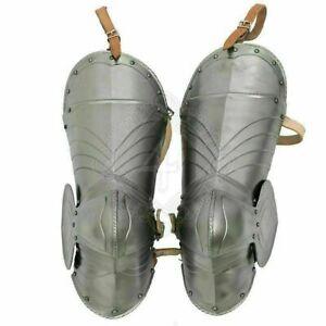 Medieval Gothic Leg Guard Armor Knight Larp 18 Gauge Steel Cosplay Costume