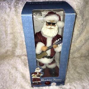 Big Rocking Guitar Santa Claus Father ChristmasDancing Moving Music Decoration