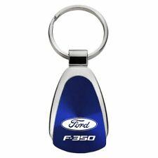 Ford F-350 Key Ring Blue Teardrop Keychain