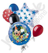 7 pc Disney Mickey Mouse Stars Balloon Bouquet Party Decoration Happy Birthday
