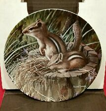 "Edwin M. Knowles 1988 ""The Chipmunk"" Collectors Plate - Authenticated -H1"