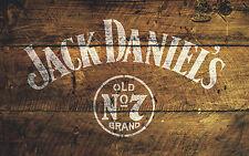 JACK DANIEL'S N ° 7 Stencil ARREDAMENTO PUB ARTE PITTURA AEROGRAFO CARROZZERIA mylar formato A4