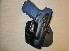 FITS GLOCKS 19/23/32/36 PADDLE HOLSTER,  formed leather,owb belt holster