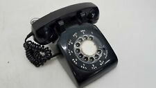 Vintage ITT Rotary Dial Telephone, Model 500-12176, Black, Made in Canada