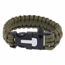 Buitenshuis Whistle Survival Paracord armband w /Flint Fire Starter schraper Kit